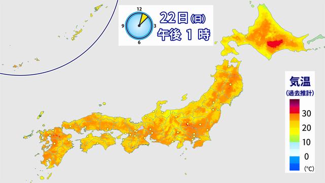 週末は、全国で一番気温が上がったのが北海道だった。