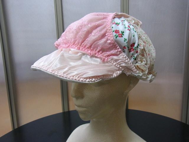 パンツ3枚をつかったパッチワーク風パンツ帽子