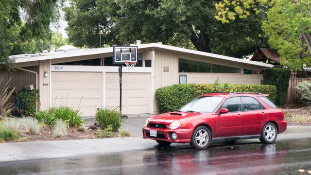 半数の家にバスケットボールのゴールが置かれていた。