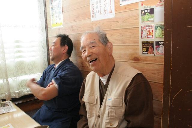初代店主の宗平さん。笑顔が素敵。