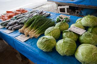 金特産品の田芋の茎であるムジも100円