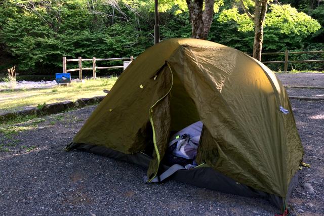 寝袋すら持たない野宿は高校生だからできたこと、現在はテント泊である