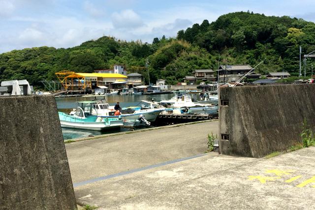 記憶の通り、集落には港もあった