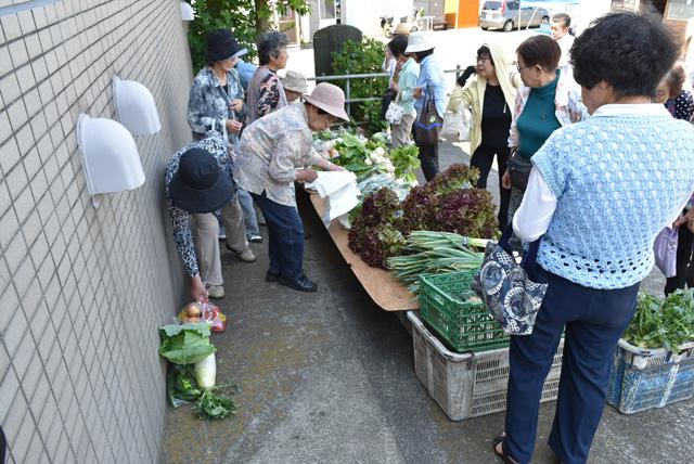 地元で採れた新鮮な野菜を販売