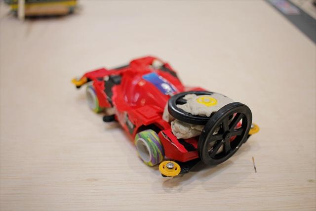 The Winner : MATTEO 前述したように馬力不足で膠着状態になりやすかった今回、先に敵陣まで攻め込めるスピード型の機体が強かった。(時間切れになると移動距離が長いほうが勝ちになるルールがあるため)
