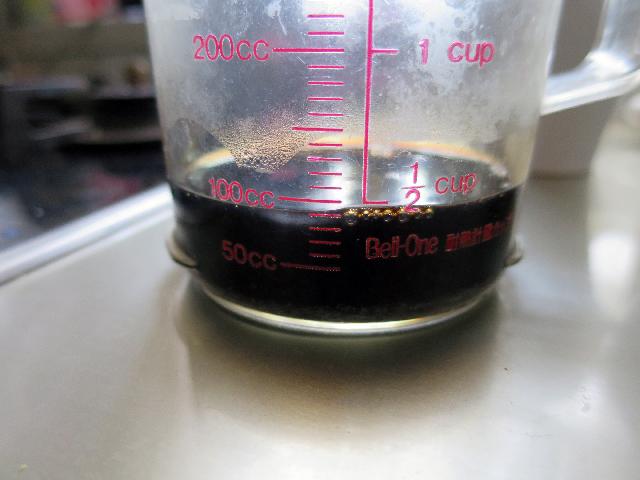 「原液」というより「煮汁」と言った方がしっくりくるビジュアル