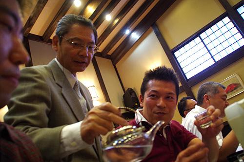 「日本酒を蒸留して最初に出てくる70度の米焼酎です!」