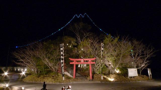 富士山をかたどったライトアップをしていた時期もあった。よほどの富士山好きとみてとれる