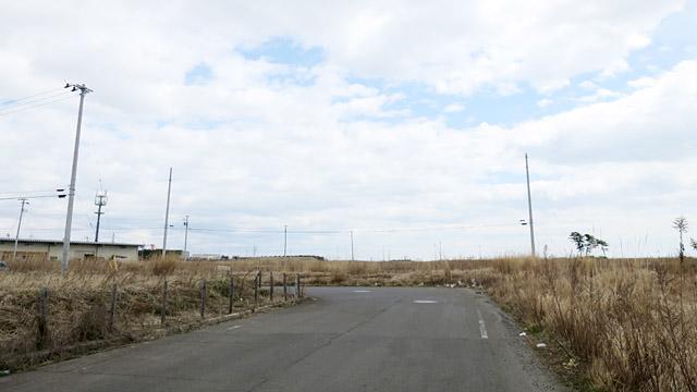 進むにつれて、徐々に景色が変化してくる。電柱がやたら目立ってみえるほど、周囲に人工物がない