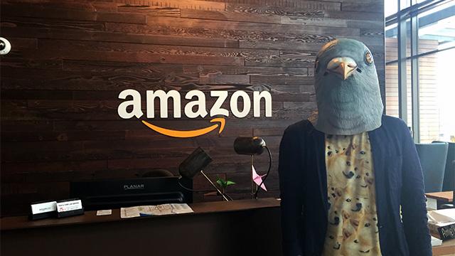 ハトマスクをかぶってしまったのでわけがわからない写真になってしまった。シャツも。