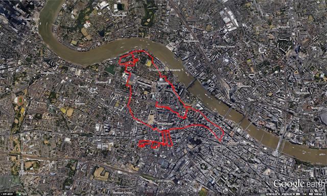 ロンドンの鳥、つまり「ロンドリ」だ。(Google earthに表示したものをキャプチャ。下も同様)