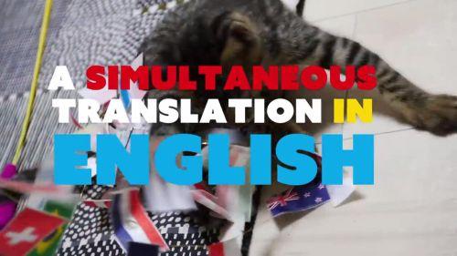 イベントは日本語だけど、英語の同時通訳を完備