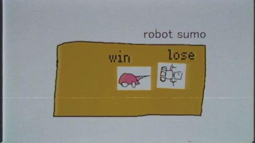 相撲のルールで戦います。