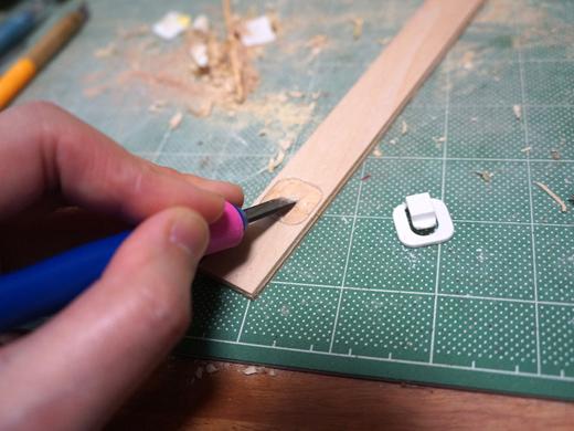 ここで華麗にクリップ位置の表面を削って一段低くし、面を合わせる。ど地味な作業である。