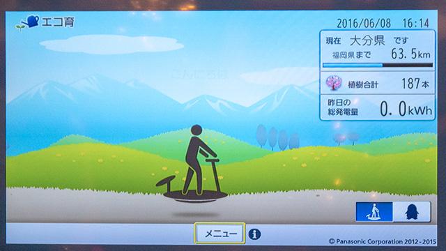 エコ育の画面
