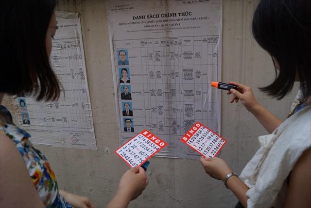 地区選挙の候補者リストを発見。