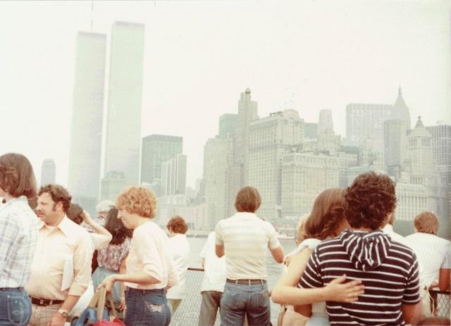 1980年頃のマンハッタン。当時、父が働いていたワールドトレードセンターも見える