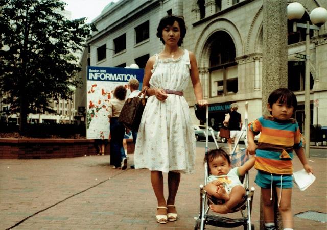 1981年8月、ボストン旅行にて