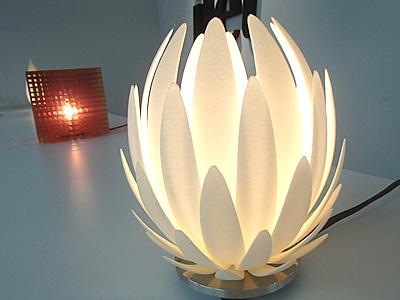 こんなランプシェードも3Dプリンタで作れる。凄いね。
