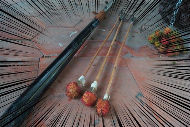 ランブータンの矢:900G(3本セット)