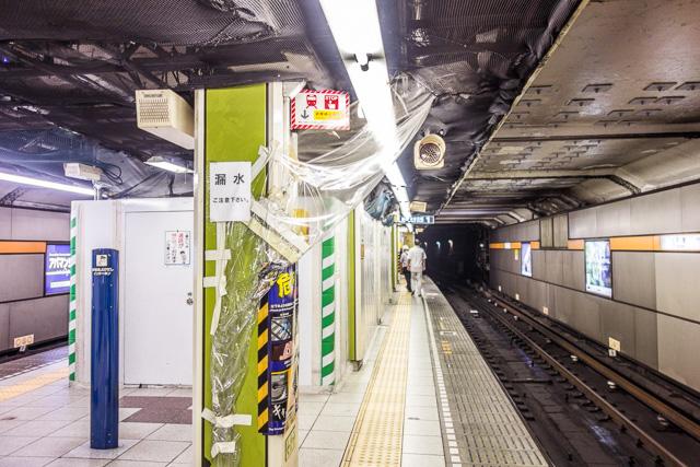 京橋駅にはなかなかの 「駅もれ」 作品があった。