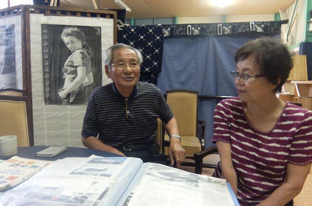 83歳になる渕上さん(左)。左はスタッフの野中さん。 まるで年齢を感じさせないすごい方だった