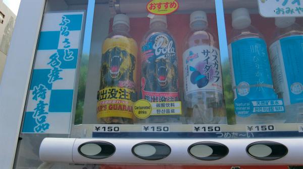 上段には北海道名産のガラナ、ハスカップソーダがある。