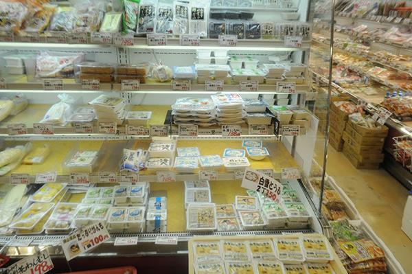 全く普通の豆腐コーナー。