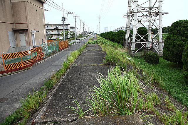 左側が昭和46年までに埋め立てられたエリア。右は昭和50年に出来たエリア。