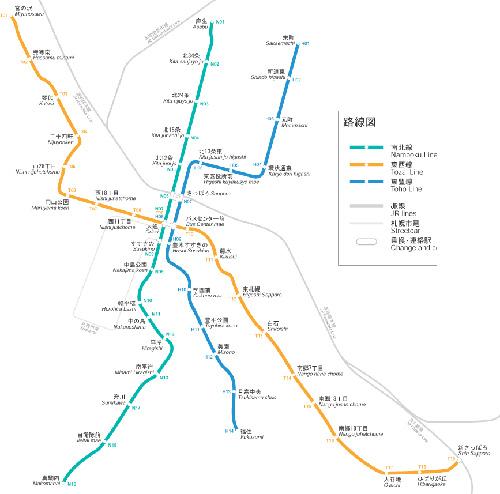 エロと聞いて真っ先に思ったのが札幌地下鉄の路線図
