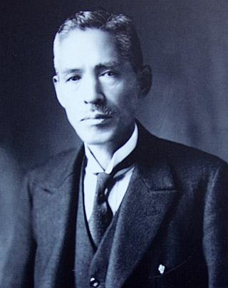 大隈榮一。明治3年(1870)~昭和25年(1950)。