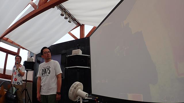 プレゼン者の体温をサーモグラフィーカメラで観測