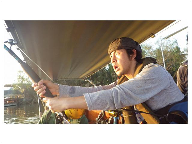 過酷なエイ釣りにも挑戦