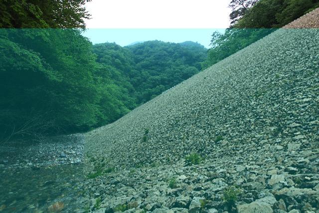 栗原川ダムの想像図(上流側)
