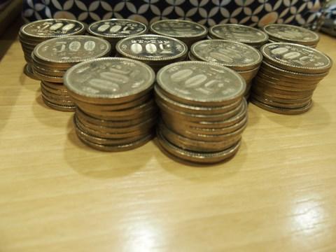 地道に貯めた500円貯金。110枚あった。
