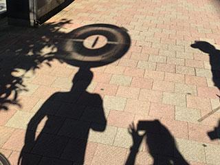 ポケストップの影は、なかなか衝撃的でした