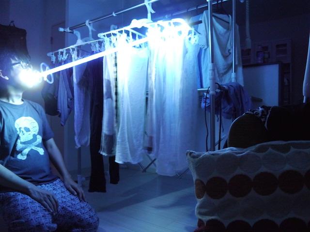 洗濯物にプロトンビーム。