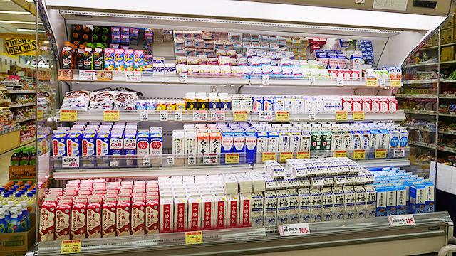 中標津のスーパー。中標津産の牛乳がない!