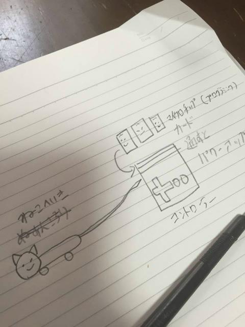 ヘボコンワールドカップ用ロボットの設計図を描きました(モッサリオ・モッサモッサ)