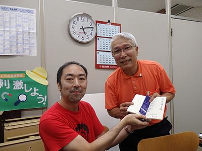 赤帽さんは立川での長嶋有フェアで本を買った第1号になった