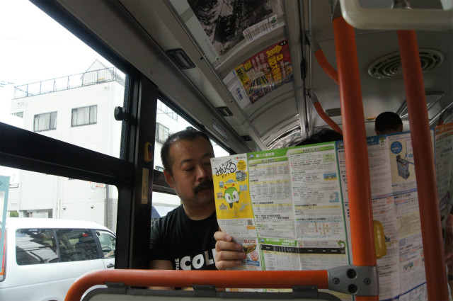 バスの中でルートを決める