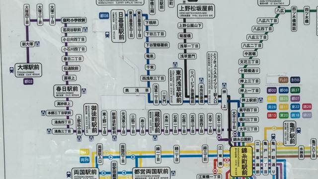 電車で行こうと思うと錦糸町と大塚がつながってる