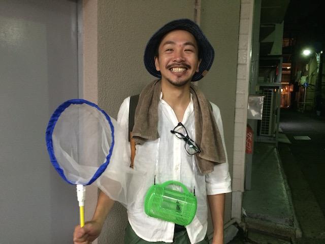 「虫博士」こと山崎隼さん(31歳)
