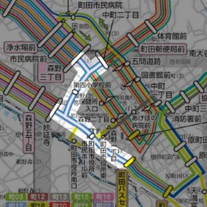 神奈中バス路線図・投稿者:タダノシマズキのガジェさま