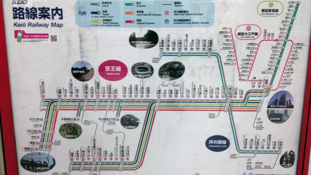 京王電鉄路線図・撮影:西村