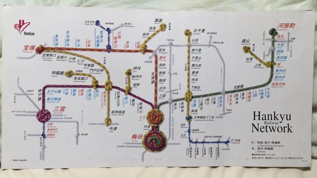 阪急電車路線図・投稿者:栗東少年まもまも