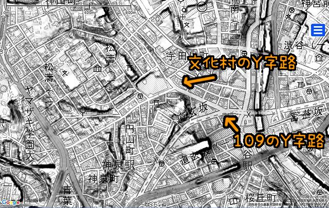 (これも同じく国土地理院「基盤地図情報数値標高モデル」5mメッシュをカシミール3D スーパー地形セットで表示したものをキャプチャ・加筆加工)。