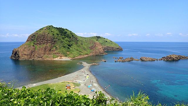 憧れていた景色の中で泳いできました。こう見えても日本海です。
