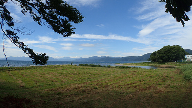 猪苗代湖は電波も入るしいいところでした。