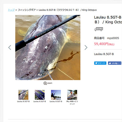 売り物は魚でなく竿です